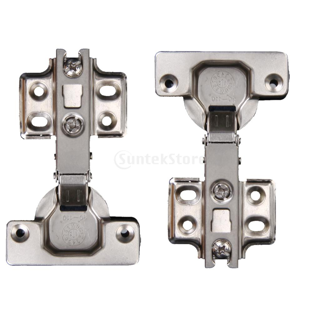 New Arrivals 2015 2x Exquisite Self Close Full Overlay Hinge Concealed Hardware Door Hinge Free Shipping(China (Mainland))
