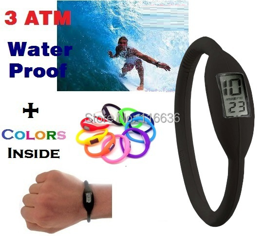 NEW Silicone ION Sport WATCH Men Women Silicon Jelly Rubber Atlethic Man Ladies Dress Fashion 3ATM waterproof(China (Mainland))