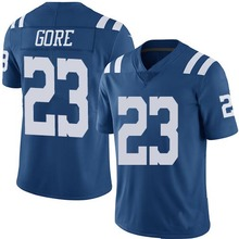 Men's #23 Frank Gore Elite Royal Blue Rush Football Jersey 100% Stitched(China (Mainland))