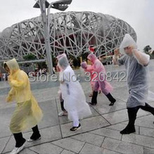 Disposable Raincoat Adult Emergency Waterproof Hood Poncho Travel Camping Must Rain Coat Unisex Portable raincoat(China (Mainland))