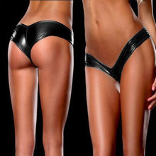 Hot Sale Special Sexy Metallic Lingerie G-String Lady Micro Thong Underwear Pants Bikini Briefs 5 Colors(China (Mainland))