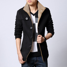 Free shipping The new men's winter coat thick woolen coat men Korean Slim windbreaker jacket plus fertilizer XL tide / M-6XL(China (Mainland))