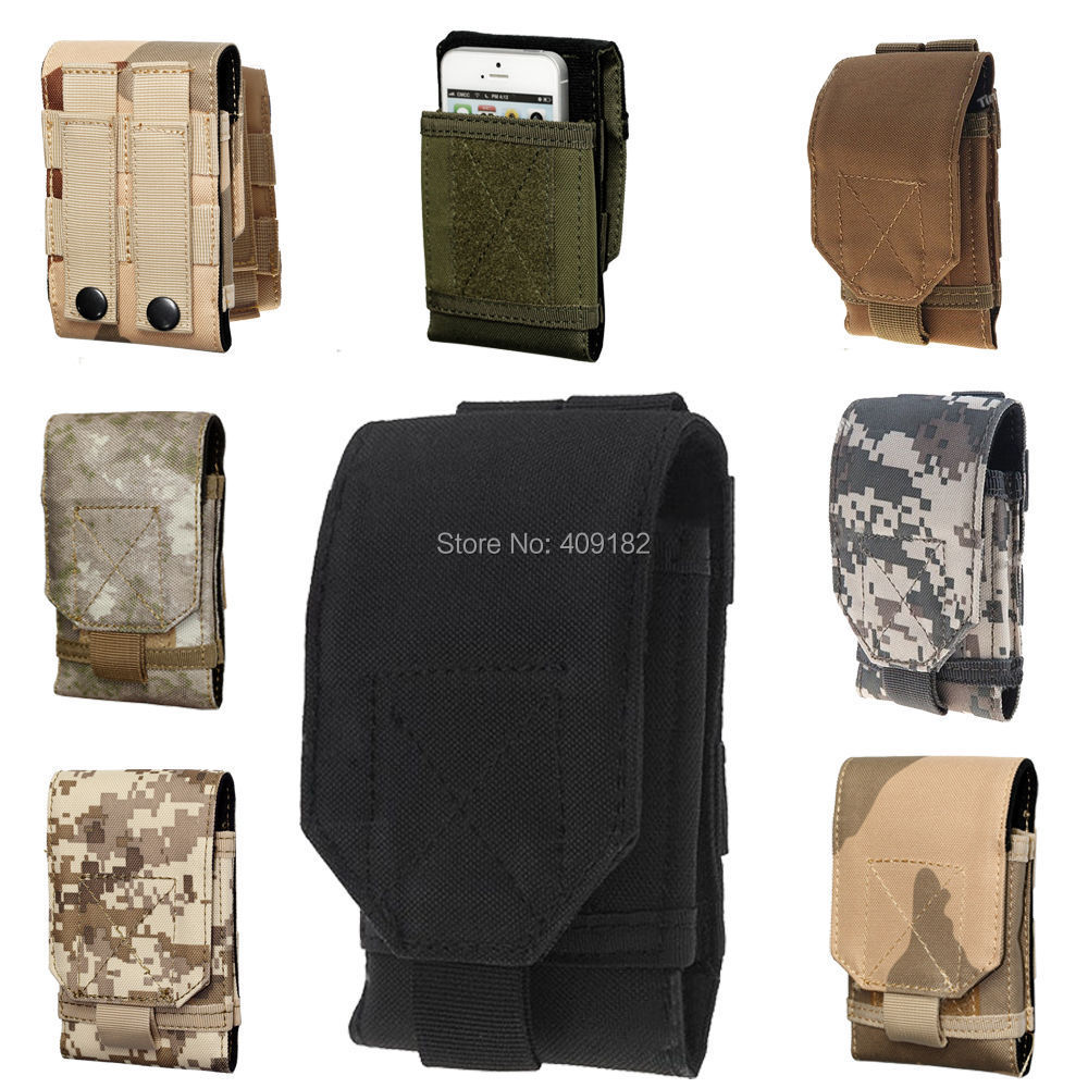 New Arrival Tactical Molle Hook Loop Belt Pouch Holster Case Cover Army Outdoor Camouflage Camo Bag For IPhone 6 & IPhone 6 Plus(China (Mainland))