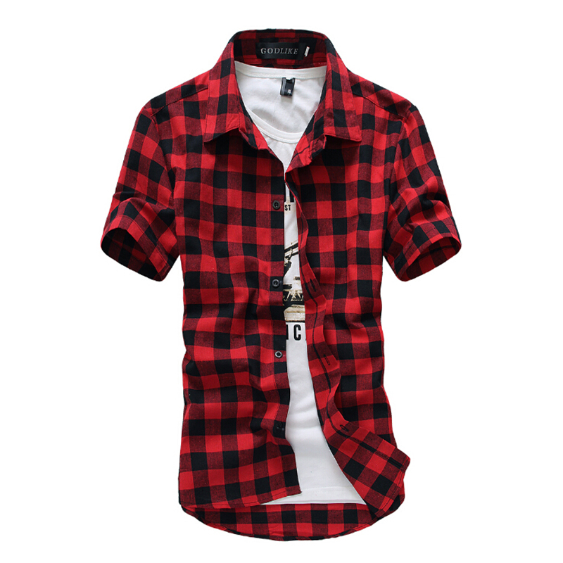 Summer 2015 brand men 39 s slim fit casual shirts fashion for Fitted short sleeve dress shirts for men
