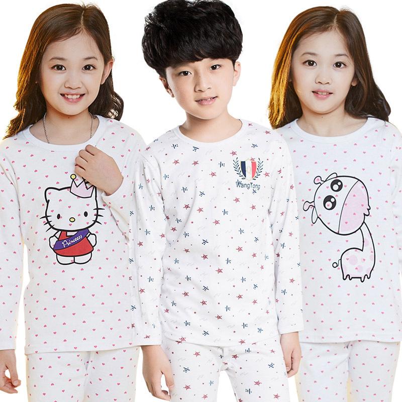 100% хлопок Детские пижамы устанавливает Детская