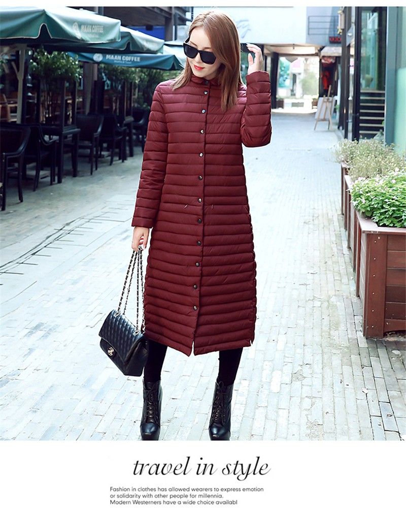 Verfalin 2016 Down Coat Parkas Women Winter Jackets Winter Slim Long Down Jacket Coat Warm Female Thickening Warm Parka Overcoat
