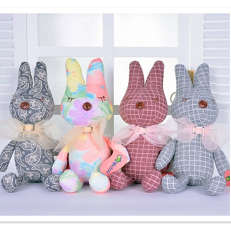 2015 Lovely Rabbit Shape Stuffed &Plush Animals Toys for Baby Kid's Birthday Gift, 7 Color Cute Plush Doll 36 CM Free Shipping