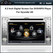 6.2 Inch Touch Screen Car DVD GPS Navigation For HYUNDAI i20 2012 With Radio BT iPod FREE Map (TV option)