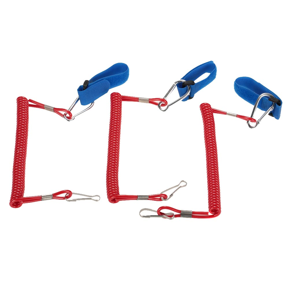 For Water Sports 3pcs Coiled Paddle Leash Elastic Kayak Canoe Safety Rod Leash Kayak Accessory Stretch to 195cm(China (Mainland))