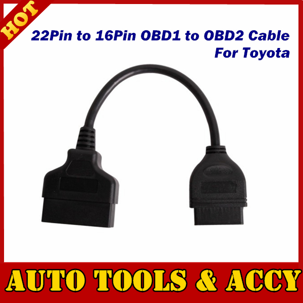 Professional OBD OBDII connector for TOYOTA 22Pin to 16Pin OBD1 to OBD2 Connect Cable free shipping(China (Mainland))