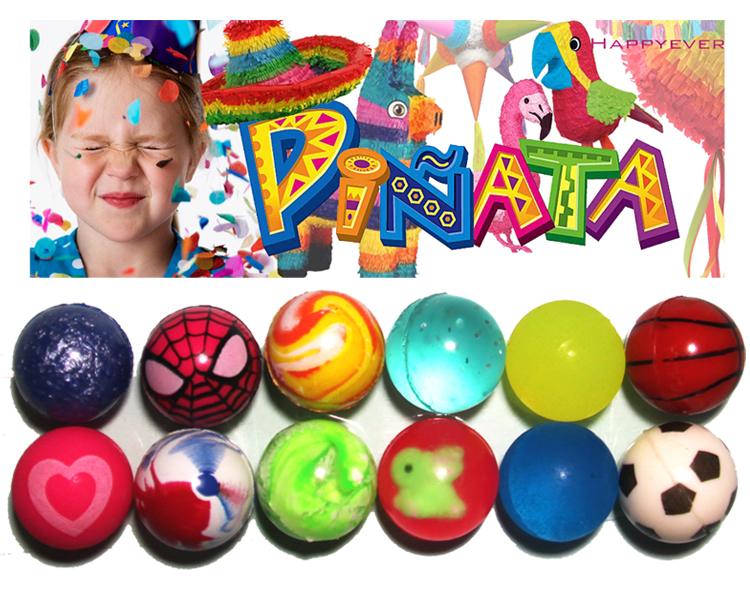 12Pcs 27mm Assorted High Bounce Rubber Ball Small Bouncy Ball Pinata Fillers Kids Toy Party Favor Bag Gifts Treat Bag Goody Bag(China (Mainland))