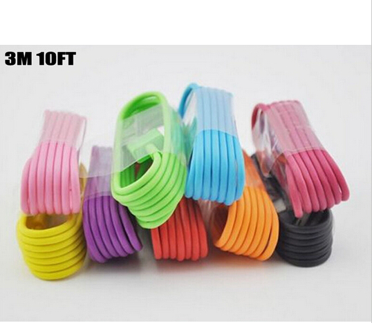 100pcs Low price wholesale and colorful circular data line for IPHOEN 5 5C 5S(China (Mainland))