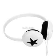 Rockpapa Boys Girls Kids Children Teens Stereo Star Headphones Headset for iPhone iPad iPod InnoTab Mp4 / White
