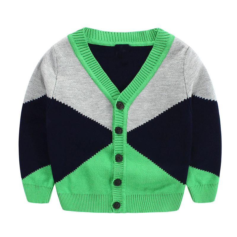 2 color Baby Girls Diamond stitching sweaters knitting cardigan coat wholesale<br><br>Aliexpress