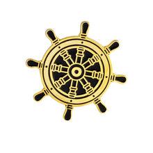 Cimitero bara pirate skeleton oro argento Zaino Distintivi e Simboli Smalto spilla Cappello Sacchetto di Accessori Spille per le donne degli uomini(China)