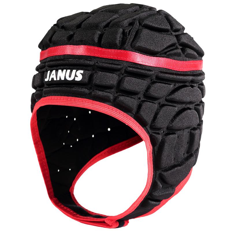 Janus Men's Pressional Football Soccer Goalkeeper Helmet Rugby Scrum Cap Headguard Black Red Goalie Roller Hat Head Protector(China (Mainland))