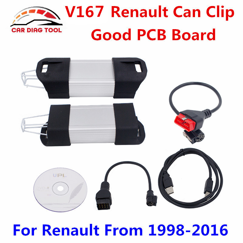 Newest V167 Renault Can Clip Diagnostic Interface Can Clip V167 For Renault Auto OBD2 Scanner Support Full Function Free Ship(China (Mainland))