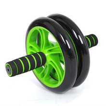 Brand New No Noise Green Abdominal Wheel Ab Roller With Mat For Exercise Fitness Equipment Free Shipping(China (Mainland))