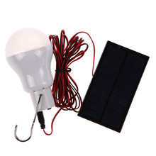 Outdoor Solar Lamp Power LED Bulb Lamp Outdoor Lighting Camp Tent Fishing Lamp Free shipping(China (Mainland))