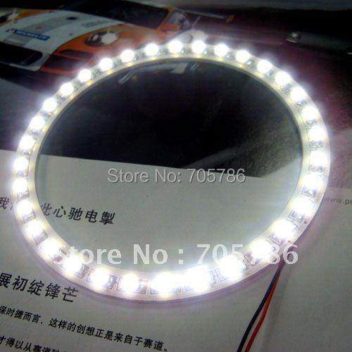 1pair 100mm Car Angel Eyes light Headlight 30 SMD 3528 1210 LED Ring 2.1W White(Hong Kong)