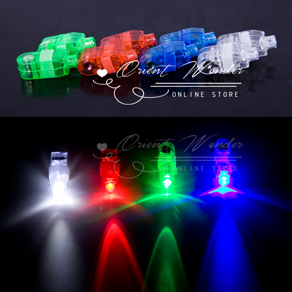 400 pcs/lot LED Finger Light wedding party KTV supplies celebration Toys mixed color for party wedding birthday Dec(China (Mainland))