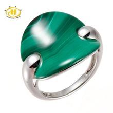 Hutang 100% Натуральный Вырезать Моды Зеленый Малахит Твердые Кольца Стерлингового Серебра 925 Fine Jewelry Единственный в Своем Роде Уникальный Стиль(China (Mainland))