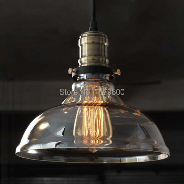 Buy Retro Vintage Industrial Style Edison Glass Ceiling Ligh
