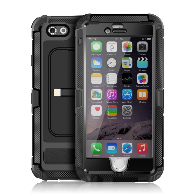 Case For iPhone 6/6s Plus LOPOO Waterproof Shockproof Dustproof Aluminum Alloy with Kickstand Function and USB Charging Cable(China (Mainland))