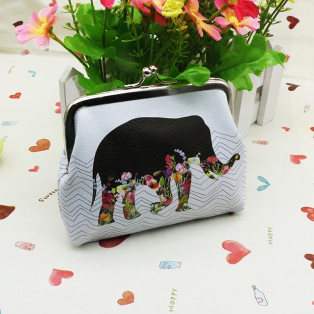 Новое клатч сумочка женская мода слон печать кожа мини-портмоне кошельки горячая ...