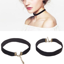 3 pcs 2015 90's Women Black Velvet Choker Necklace Gothic Handmade Retro Burlesque Jewelry #71631(China (Mainland))