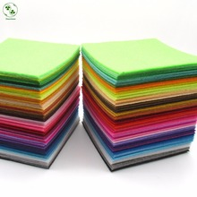 88 Colors/Lot 10X10CM Felt Fabric Polyester 1 MM Thick Non-woven Felt Handmade Fabric DIY Nonwoven Cloth(China (Mainland))