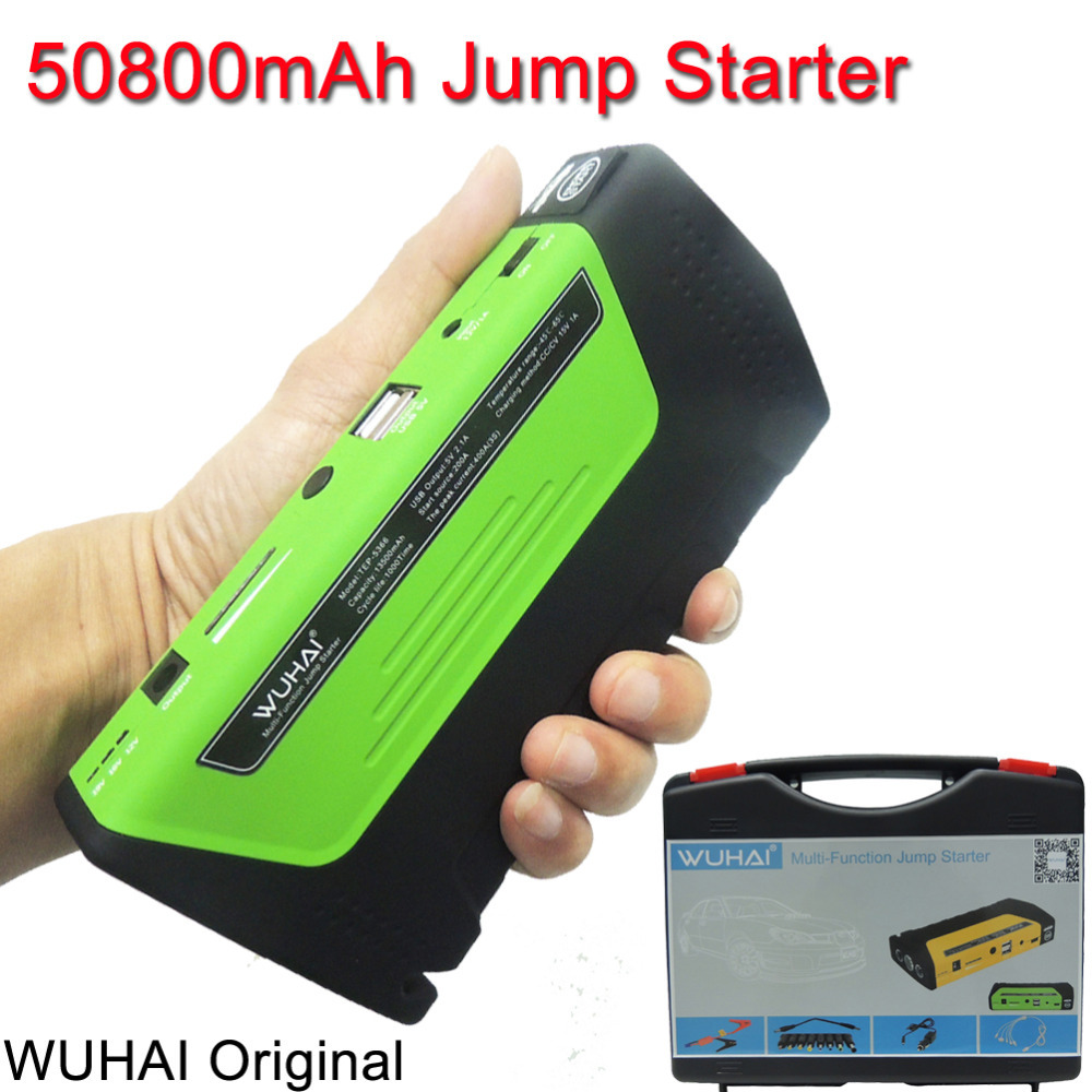 50800mAh WUHAI Car Jump Starter High-capacity battery charger pack for auto vehicle starting And power bank for digital products(China (Mainland))