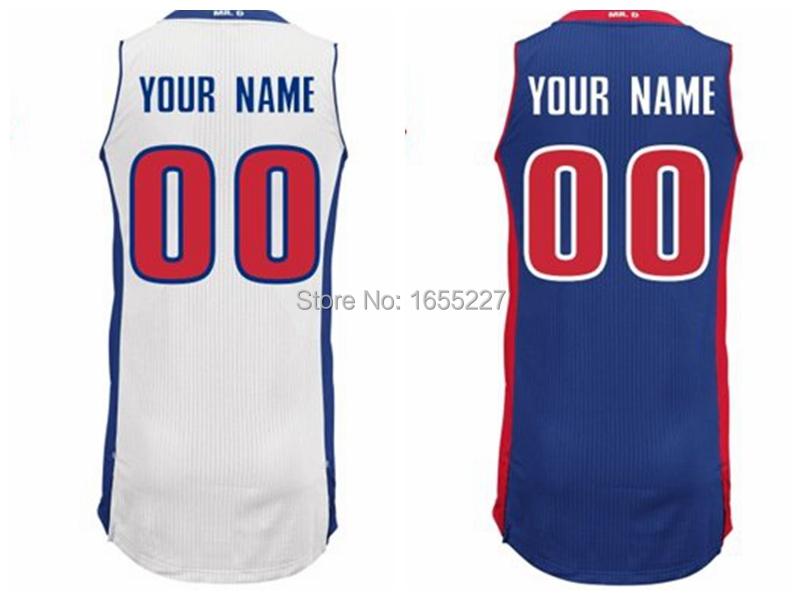 Free Shipping Youth custom Detroit P blue white Personalized boys girls Kids Basketball Jerseys Size XS S M L XL 2XL(China (Mainland))