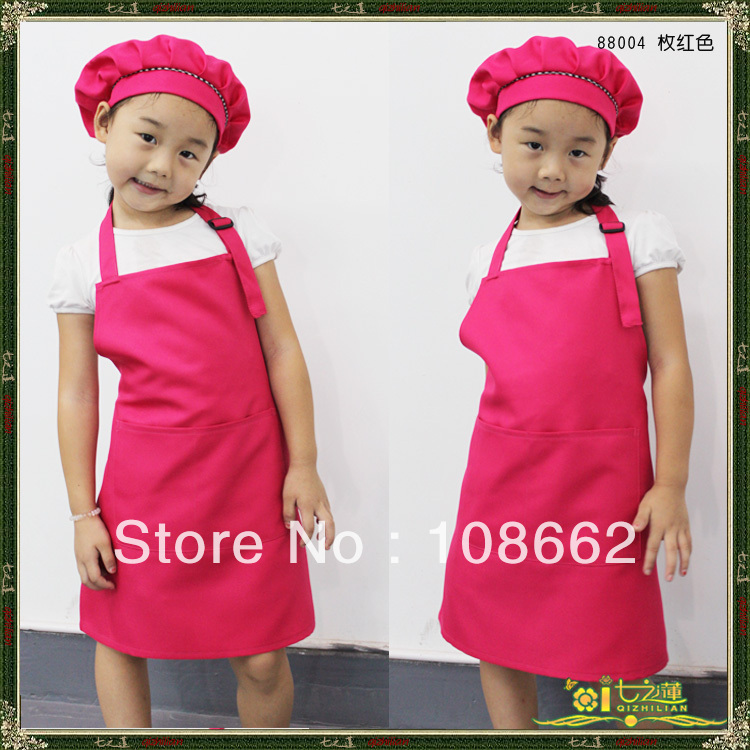 10 PCS brand new 3-9 years old kids adjusted pinafore aprons child bibs rose red/sky blue/red/green/yellow/dark red 10 colors(China (Mainland))