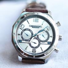 Hombre Homme reloj de cuarzo horas mejor vestido de moda de corea de la pulsera deporte banda de cuero de regalo de cumpleaños del reloj Julius JAH063
