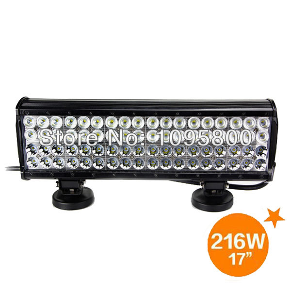 high intensity led light bar 17 inch 216 w four rows cree. Black Bedroom Furniture Sets. Home Design Ideas