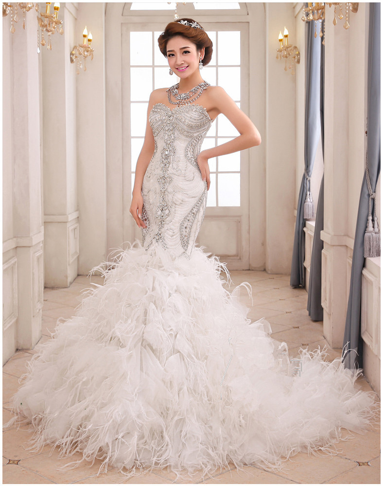 online buy wholesale feather mermaid wedding dress from With feather mermaid wedding dress