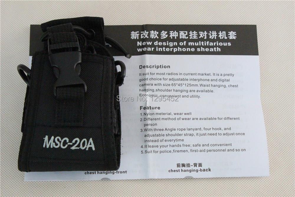 New Arrival Walkie Talkie Case Nylon Carry Holder MSC-20A For UV-5R GP328 GP88s GP2000 GP3688 HT750 Radios(China (Mainland))