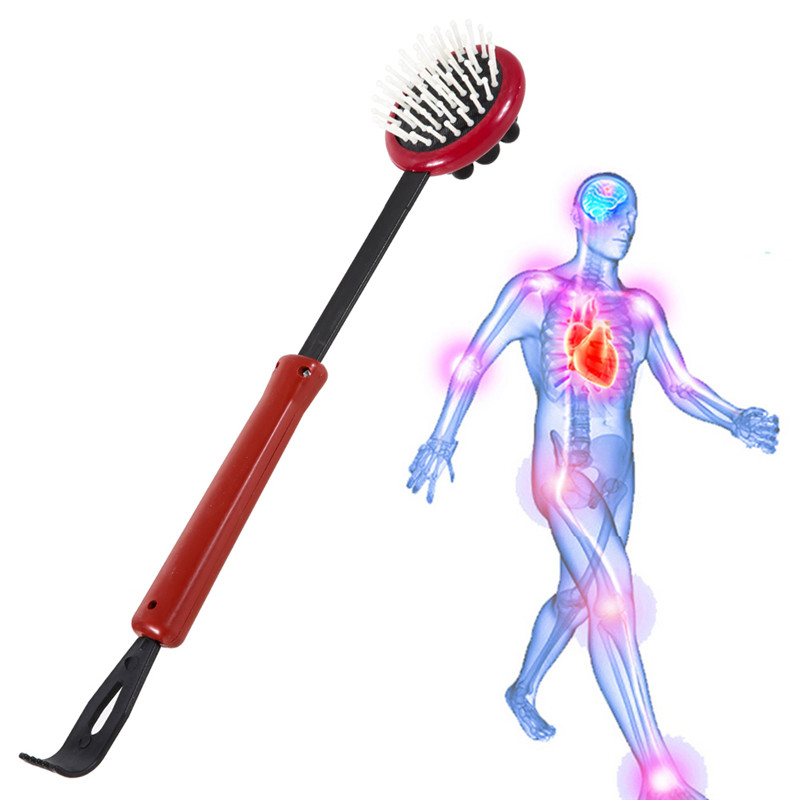 Dual Use Telescopic Back Scratcher Massager Extendable Body Head Full Body Scratch Massage Adjustable Relaxation for old people