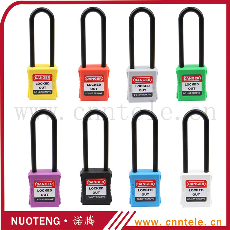 Lock Pick Set Door Lock Industrial Safety locks With 76mm Plastic Shackle Padlocks Accept Customization(China (Mainland))