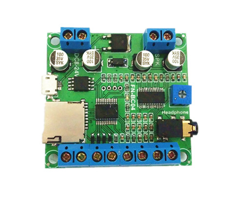 Industry Control Audio Playback Board RX TX Serial control Key Control MP3 WAV Format Great Sound Quality(Hong Kong)