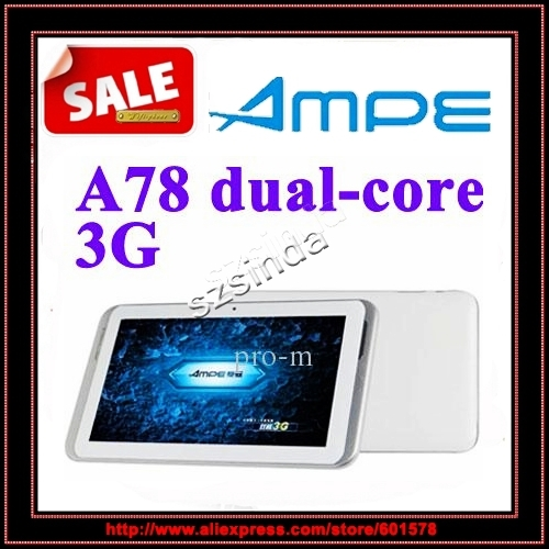 Ampe A78 3G Version Dual core 7 inch IPS Screen GPS Bluetooth OTG GSM+WCDMA 3G phone Call Tablet PC / Anna(Hong Kong)