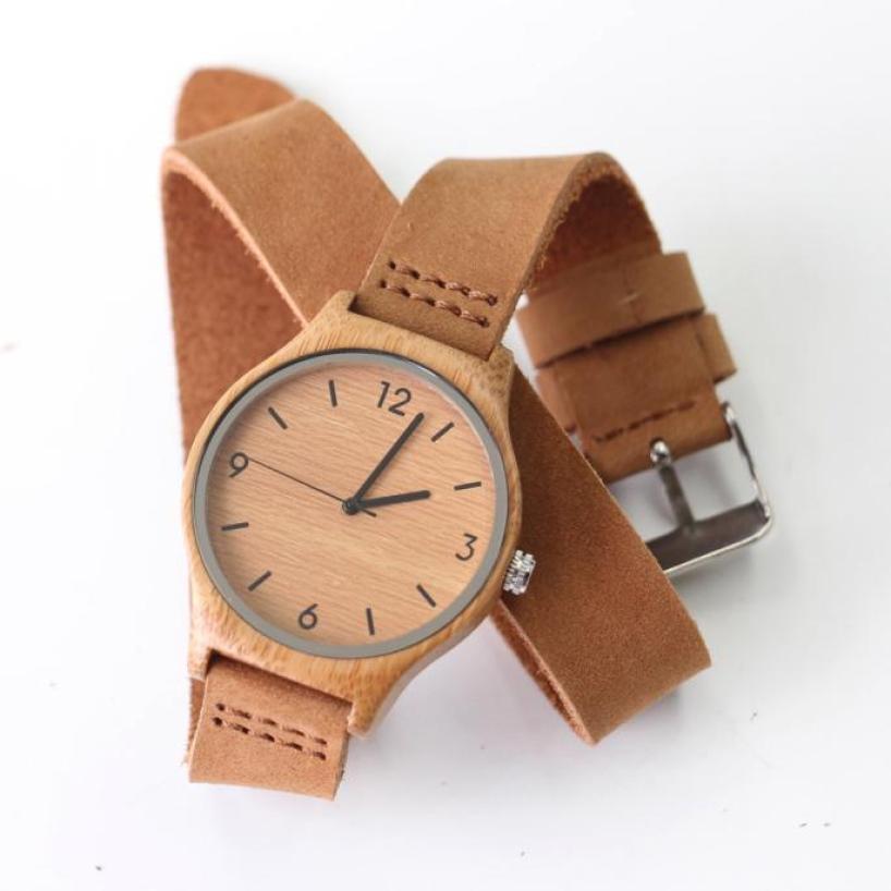 Yoner Watch For Men Luxury Watch Men Analog Leather Band Round Bamboo Wooden Quartz Watches Men Luxury Brand<br><br>Aliexpress