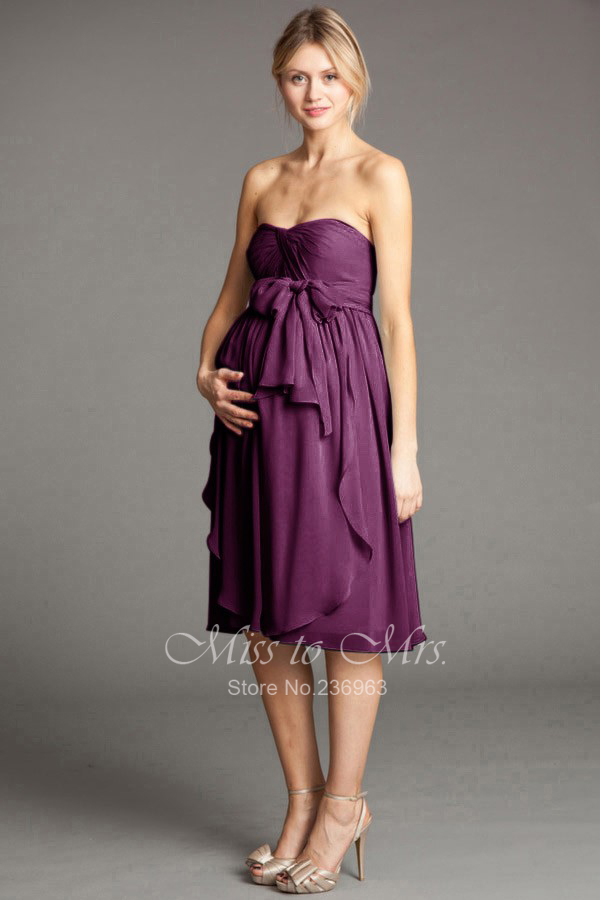 Purple Maternity Bridesmaid Dress