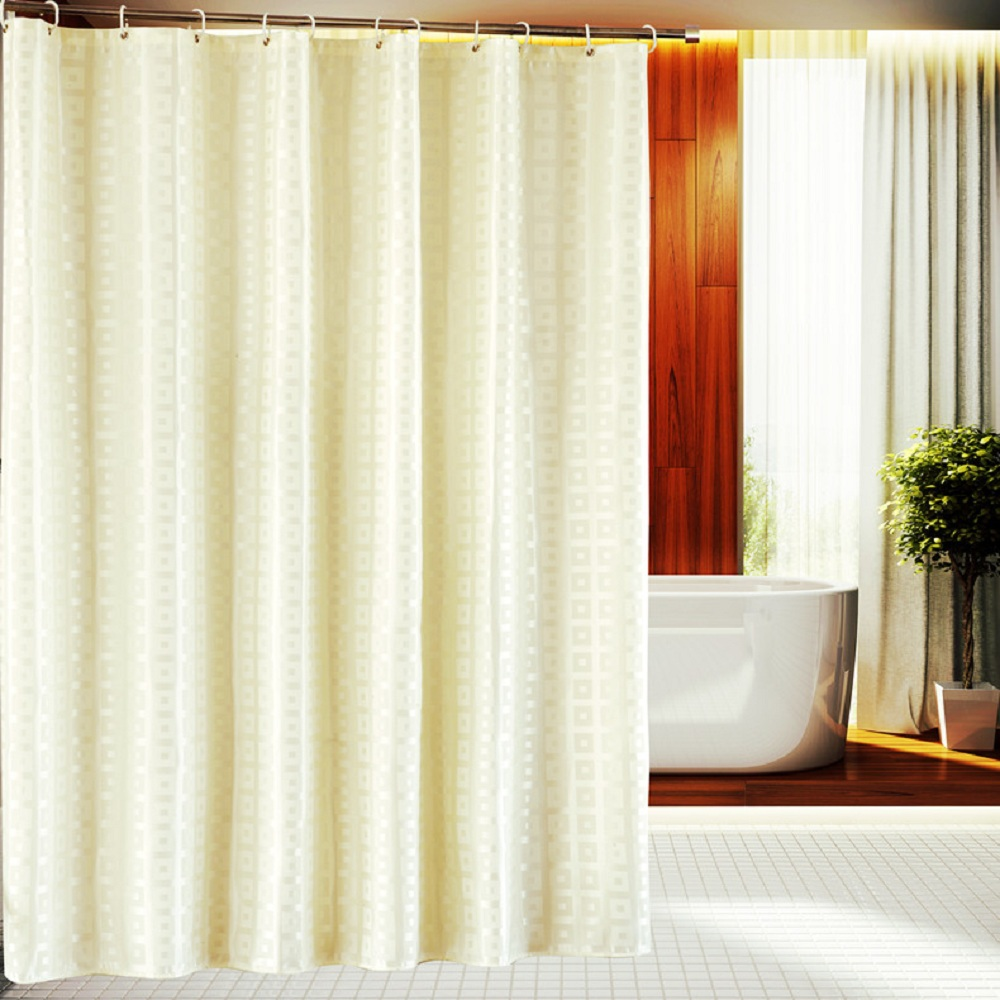Waterproof shower curtain bathroom curtain fabric shower Beige curtains