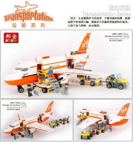 building block set compatible lego new city freight transport plane 3D Construction Brick Educational Hobbies Toys Kids