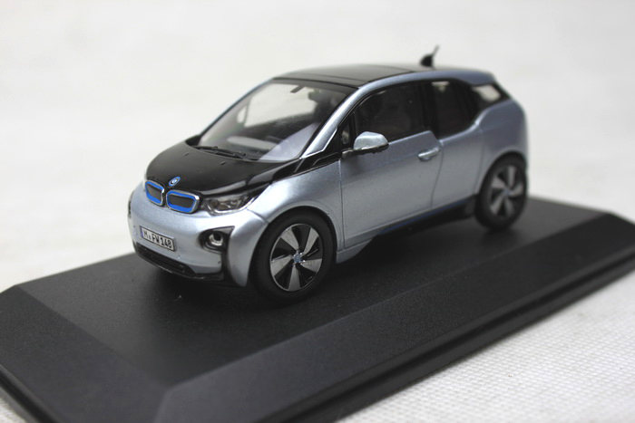 i3 electric car model (send display box) 1:43 concept car alloy model car toy(China (Mainland))