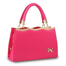2016 New Famous Brand Women Leather Handbag Fashion Women Bags Summer Korean Style Candy Color Bag Bowknot Designer Ladies Bag