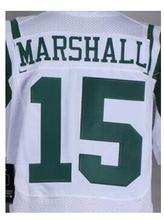 Free Shipping Mens 15 Brandon Marshall 12 Joe Nama 22 Matt Forte 24 Darrelle Revis 87 Eric Decker jersey, jersey,White,Green,(China (Mainland))
