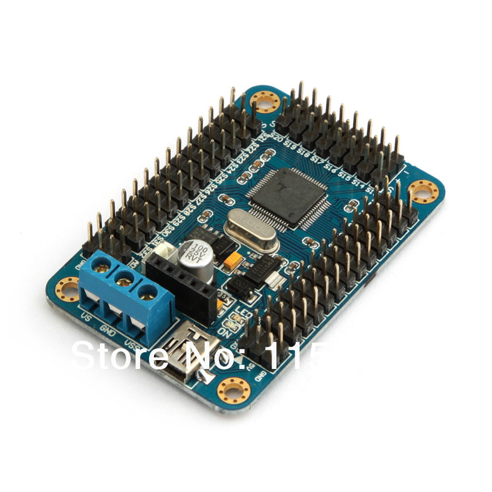 32ch servo motor control driver board for arduino robot for Servo motor with controller